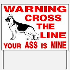 GERMAN SHEPHERD DOG SIGN Yard Sign