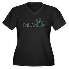 """Tai Chi Growth 3"" Women's Plus Size V-Neck Dark T"
