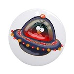 Evil Space Penguin Ornament (Round)