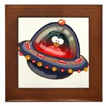 Evil Space Penguin Framed Tile