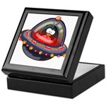 Evil Space Penguin Keepsake Box