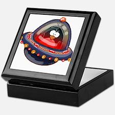 Evil Space Penguin Keepsake Box