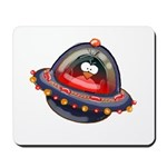 Evil Space Penguin Mousepad