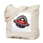 Evil Space Penguin Tote Bag