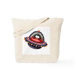 Evil Space Penguin Tote Bag