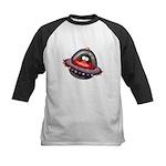 Evil Space Penguin Kids Baseball Jersey