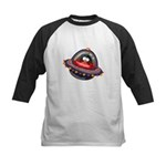 Evil Space Penguin Kids Baseball Jersey