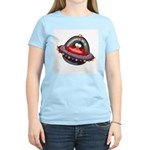 Evil Space Penguin Women's Pink T-Shirt