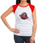 Evil Space Penguin Women's Cap Sleeve T-Shirt