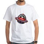 Evil Space Penguin White T-Shirt