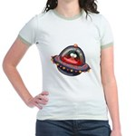 Evil Space Penguin Jr. Ringer T-Shirt