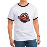 Evil Space Penguin Ringer T