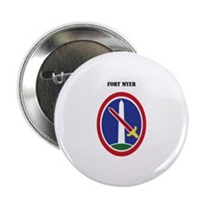 """Fort Myer with Text 2.25"""" Button"""