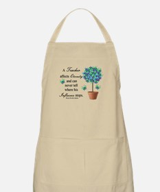 Retired Teacher butterfly blanket blue.PNG Apron
