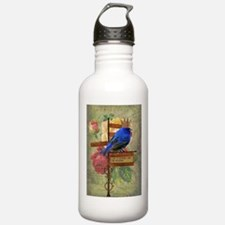 Whimsy Collage Art Water Bottle