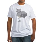 Black Cat Fitted T-Shirt