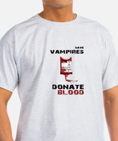 save vampires donate blood shirt T-Shirt
