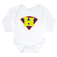 Unique H Long Sleeve Infant Bodysuit