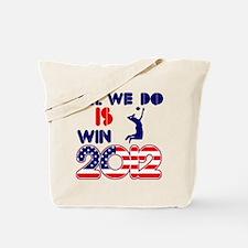 USA Beach Volleyball Designs Tote Bag