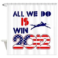 USA Swimming Designs Shower Curtain