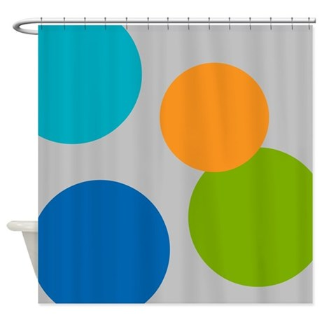 Large Polka Dots Shower Curtain