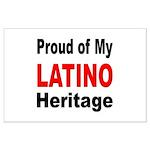 Proud Latino Heritage Large Poster