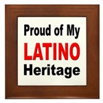 Proud Latino Heritage Framed Tile