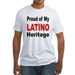 Proud Latino Heritage (Front) Fitted T-Shirt