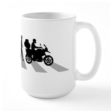 Motorcycle Traveller Large Mug