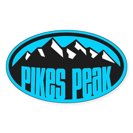 Pikes Peak Sticker (Oval)