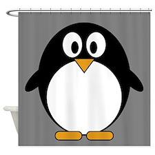 cute penguin drawing Shower Curtain