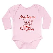 Mackenzie On Fire Long Sleeve Infant Bodysuit