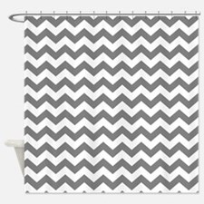 chevron pattern gray Shower Curtain