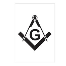 Masonic: Square & Compass Postcards (Package of 8)