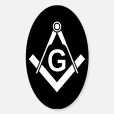 Masonic: Square & Compass Oval Decal