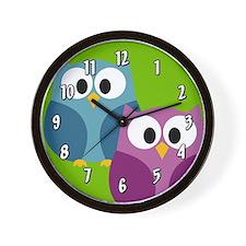 cute owl design Wall Clock