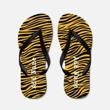 zebra stripes gold Flip Flops