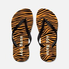 zebra stripes orange Flip Flops
