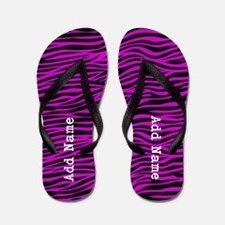 zebra stripes purple Flip Flops