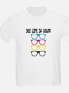 CMYK Glasses - life in color T-Shirt
