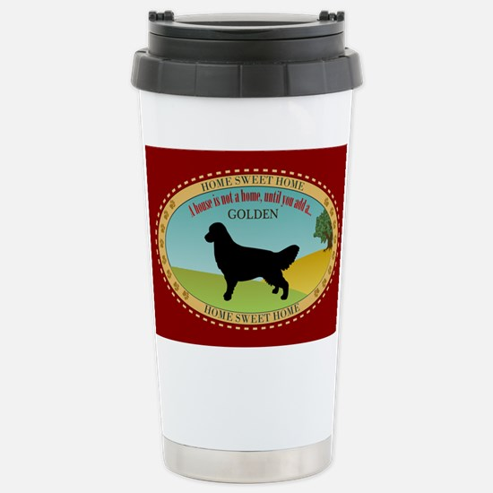 Golden Retriever Stainless Steel Travel Mug