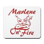 Marlene On Fire Mousepad