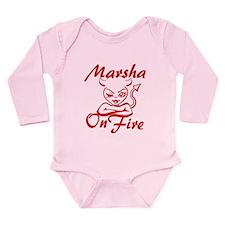 Marsha On Fire Long Sleeve Infant Bodysuit