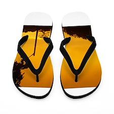 Yellow Twlight Flip Flops
