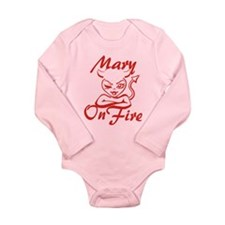 Mary On Fire Long Sleeve Infant Bodysuit