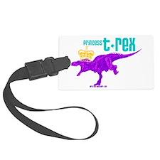 Princess T-Rex Luggage Tag
