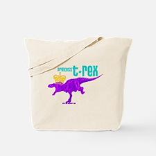 Princess T-Rex Tote Bag
