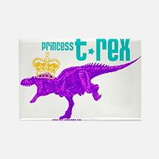 Princess T-Rex Rectangle Magnet