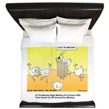 ChickenHead Anonymous King Duvet