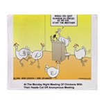 ChickenHead Anonymous Throw Blanket